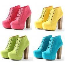 neon renkli ayakkabilar