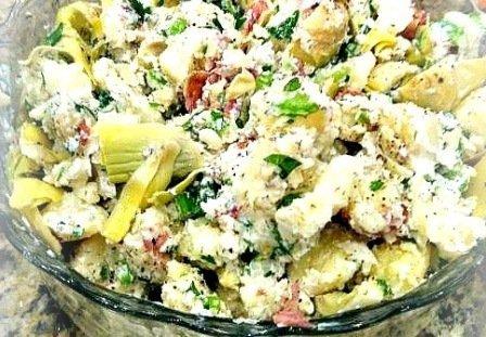 yogurtlu patates salatasi