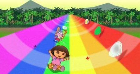 Dora Rainbow ride oyun1