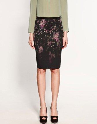 Zara klasik dar kesim etek modeli