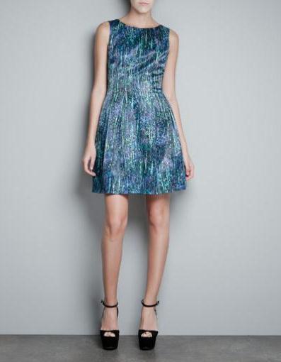Zara mavi elbise