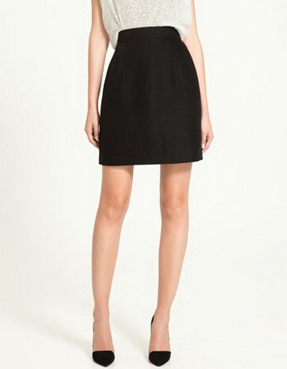 Zara siyah mini etek