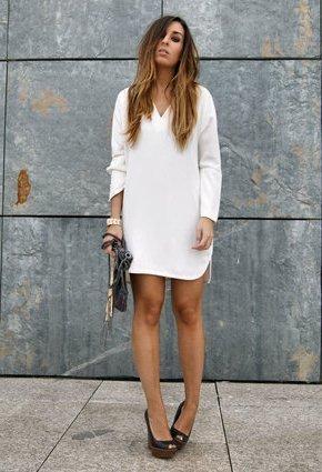 zara beyaz elbise modelleri