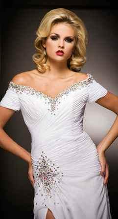 Beyaz Abiye Elbise Modelleri1