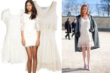 Beyaz Dantel Elbise Modelleri - Beyaz dantel Abiye Elbise Modelleri