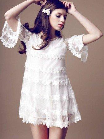 Beyaz Dantel Elbise Modelleri - Beyaz dantel Abiye Elbise Modelleri3