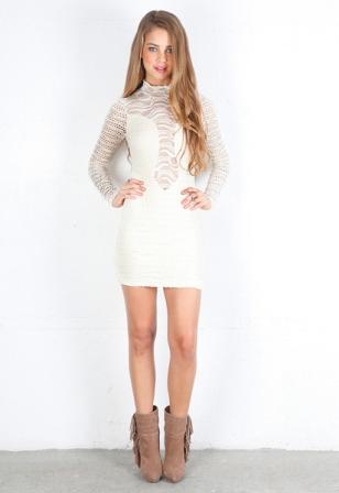 Beyaz Dantel Elbise Modelleri - Beyaz dantel Abiye Elbise Modelleri7