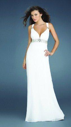 Beyaz uzun Abiye Elbise Modelleri1