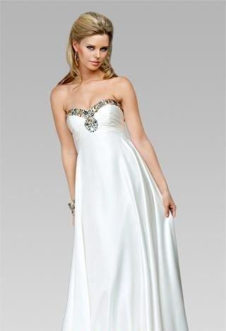 Beyaz uzun abiye elbise modelleri