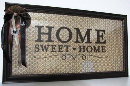 Home Sweet Home dekoratif tepsi