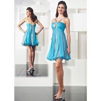 Mavi mezuniyet elbisesi modelleri