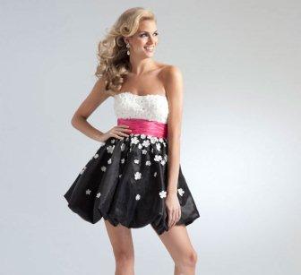 Mini Mezuniyet Elbisesi Modelleri - siyah beyaz mezuniyet elbisesi modelleri