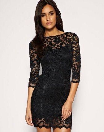 Siyah Dantel Elbise Modelleri - Abiye Elbise Modelleri