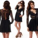 Siyah Dantel Elbise Modelleri - Abiye Elbise Modelleri3