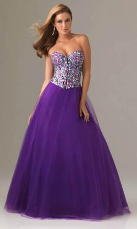 Uzun Mezuniyet Elbisesi Modelleri - mor, lila mezuniyet elbiseleri