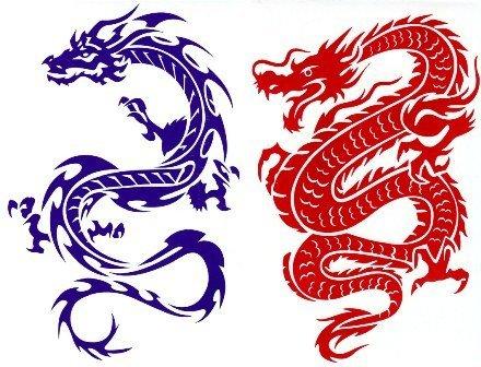dragon (ejderha) duvar stickeri