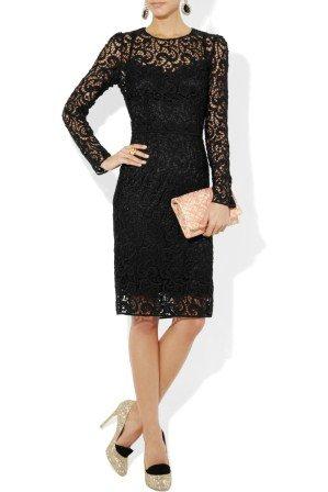 siyah dantel elbise modelleri