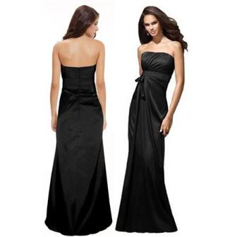 siyah straplez abiye elbise modelleri