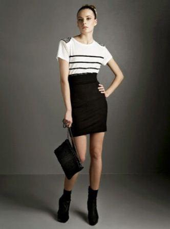 siyah ve beyaz elbiseler