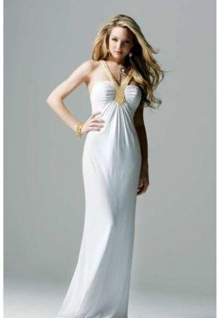 uzun beyaz abiye elbise modelleri