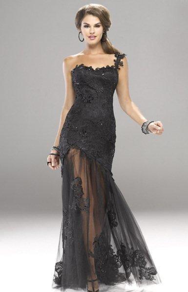 2013 uzun dantel abiye elbise modelleri