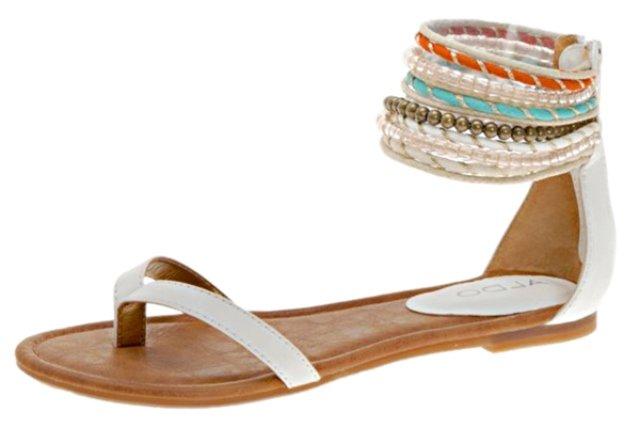 Boncuklu sandalet modelleri