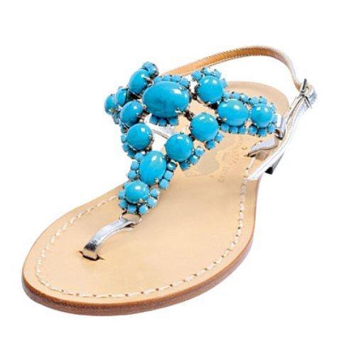 Boncuklu sandalet modelleri1
