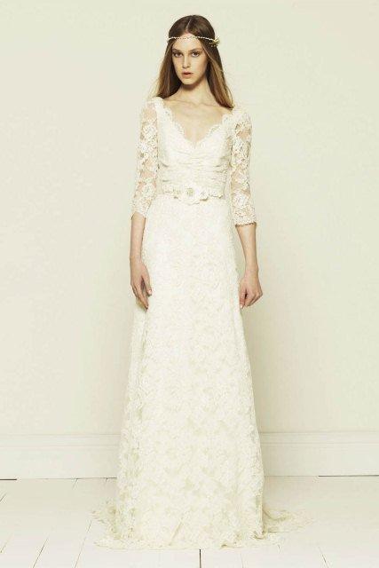 beyaz dantel elbise modelleri