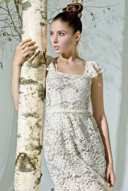 beyaz dantel elbise modelleri1