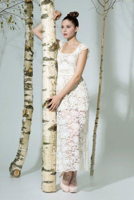 beyaz dantel elbise modelleri2