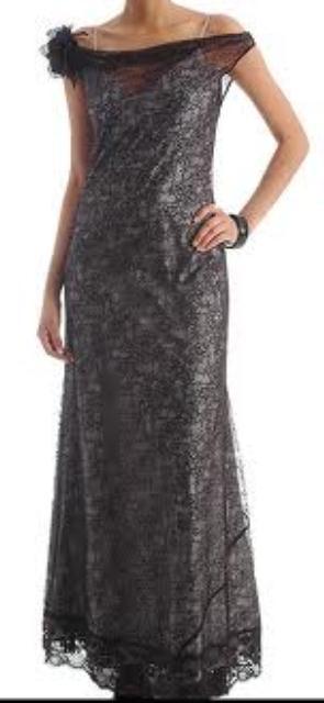 siyah uzun dantel elbise modelleri1