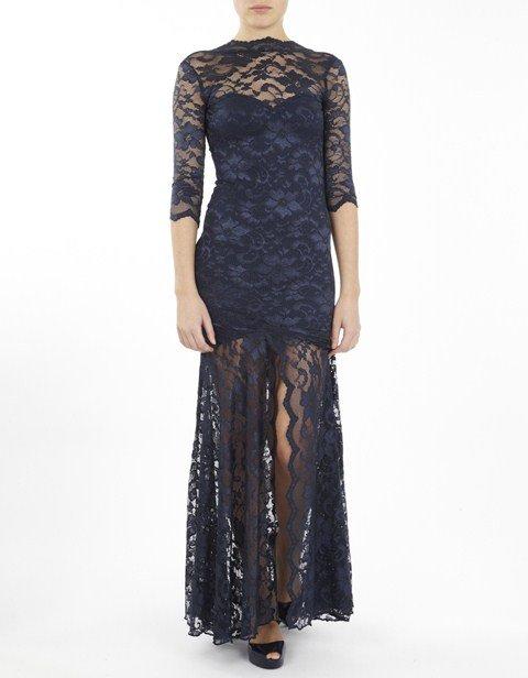 siyah uzun dantel elbise modelleri2
