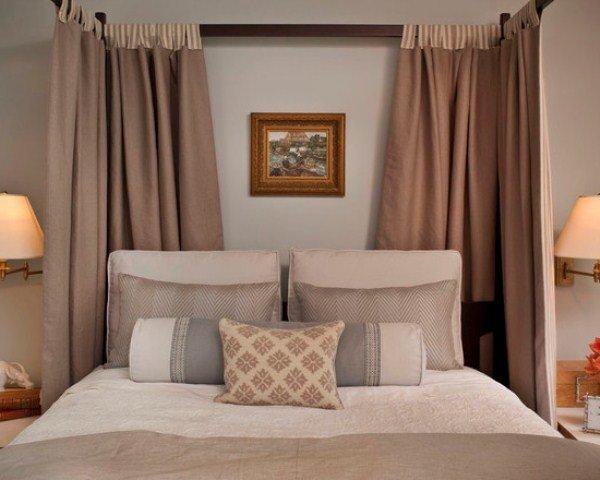modern yatak perdeleri