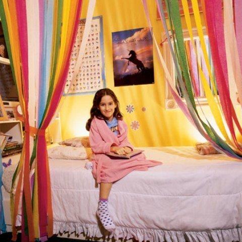 rengarenk yatak perdeleri