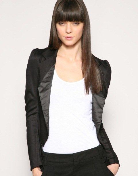bayan klasik blazer ceket modeli
