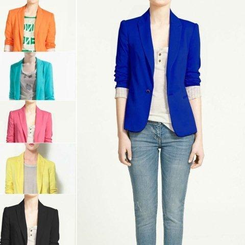 mavi blazer ceket modeli