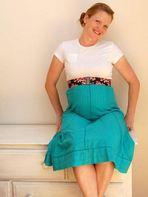 mavi hamile etek modeli