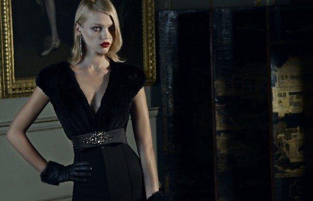 vakko siyah abiye elbise modeli