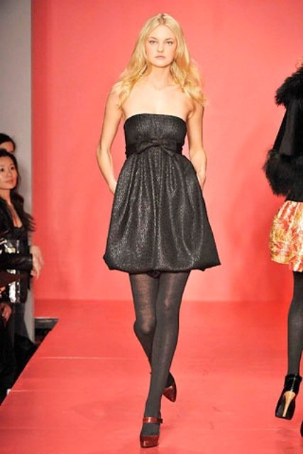 dkny siyah straplez elbise