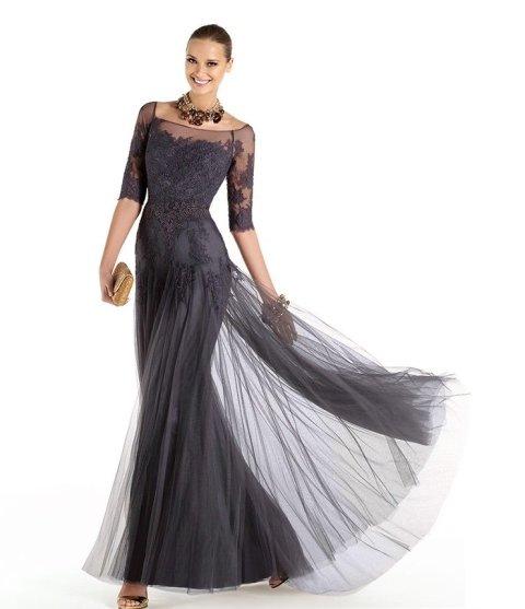 2014 siyah abiye elbise modeli