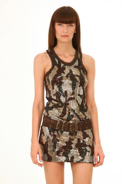 kamuflaj elbise modeli