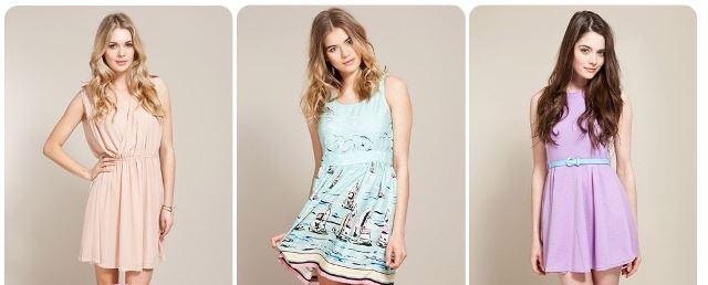 pastel renk elbiseler