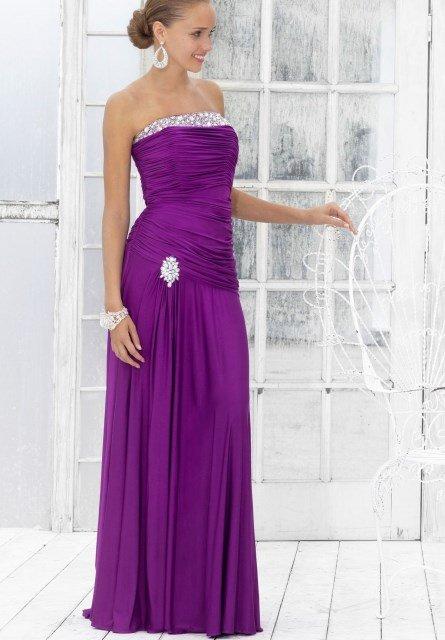 straplez uzun abiye elbise