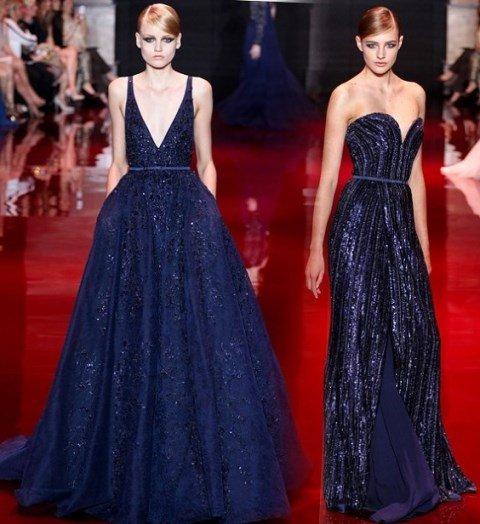 gece mavisi abiye elbise