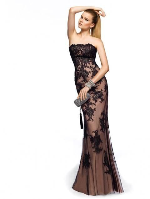 dantel gece elbisesi
