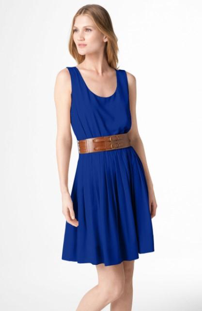 calvin klein gece mavisi elbise.