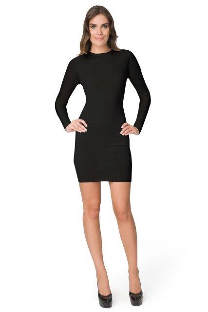 calvin klein uzun kollu siyah elbise