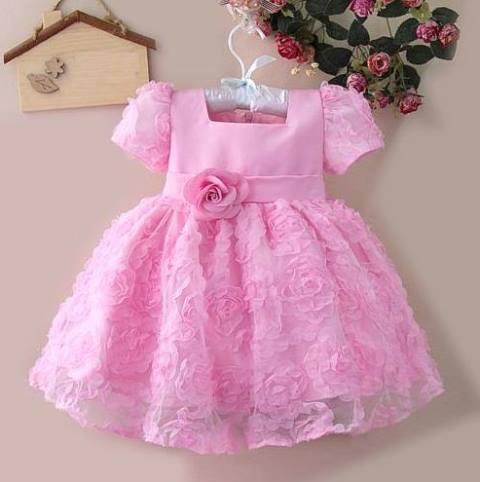 pembe bebek elbise modeli