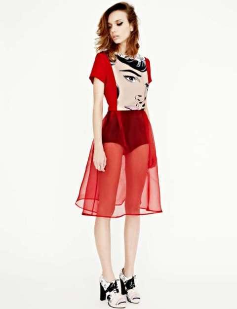 2014 ilkbahar yaz trendleri - popart desenli elbise