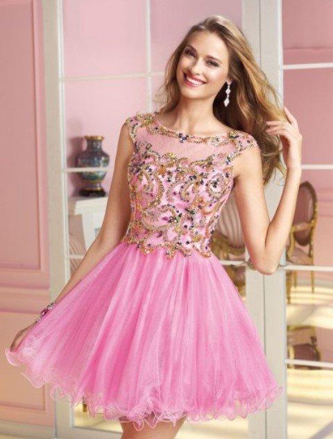 2014 mezuniyet elbisesi modelleri - pembe mezuniyet elbisesi modeli